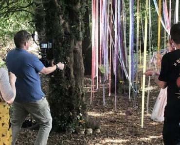 Filming in Woods