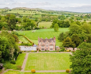 Aerial View of Acton Scott Hall