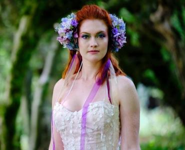 Bride in front of Hornbeam Walk (credit Haworth Weddings)